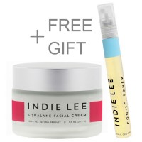 Indie Lee Squalane Facial Cream +Free CoQ-10 Toner Travel Spray