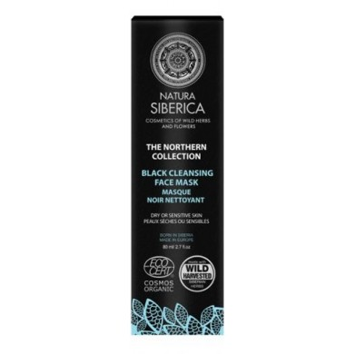 Natura Siberica Northern Cleansing Black Face Mask - For Dry or Sensitive Skin