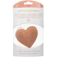 Konjac French Pink Clay Facial Heart Sponge