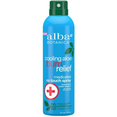 Alba Botanica Cooling Aloe Burn Relief Medicated No Touch Spray