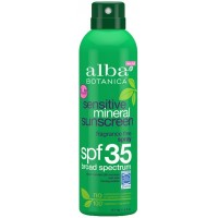 Alba Botanica Sensitive Mineral Sunscreen Fragrance Free Spray SPF35