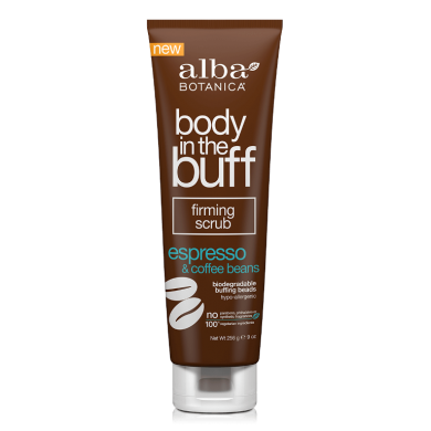 Alba Botanica Body In Buff Espresso & Coffee Beans Firming Body Scrub