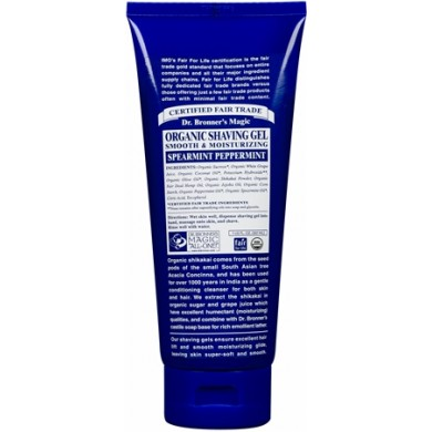 Dr. Bronner's Organic Shaving Gel Spearmint Peppermint