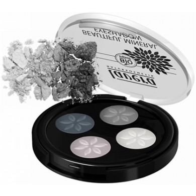 Lavera Mineral Eyeshadow Quattro - Smoky Grey