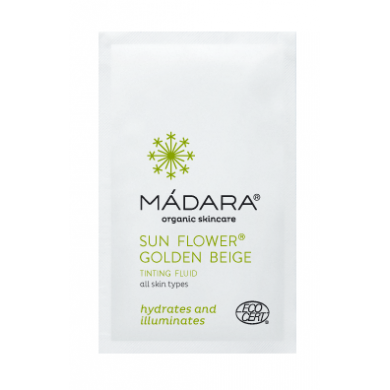 Madara Sun Flower Golden Beige Tinted Fluid Sample Sachet