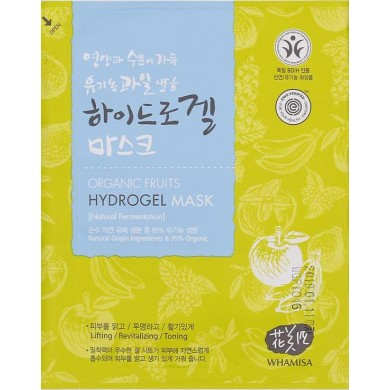 Whamisa Organic Fruits Hydrogel Facial Sheet Mask