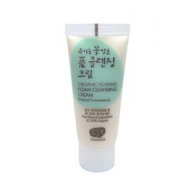 Whamisa Organic Flowers Foam Cleansing Cream - Miniature